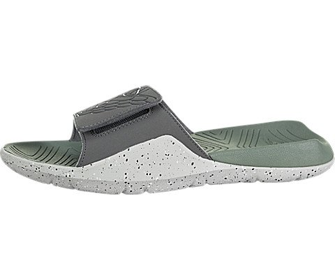 Jordan Nike Men's Hydro 7 Dark Grey/Dark Grey Clay Green Sandal 13 Men US by Jordan