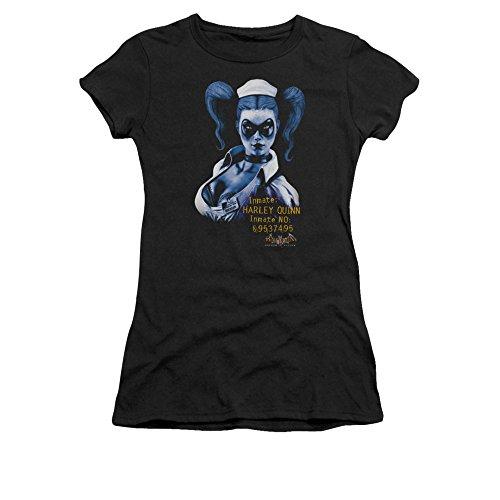 Simply Superheroes Womens batman arkham asylum harley quinn inmate juniors t shirt XXL