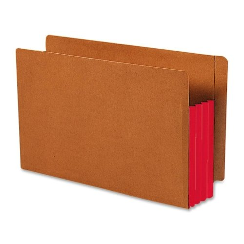 Smead Redrope End-Tab File Pockets with Gussets, Legal Size, 3 1/2