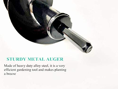 """Dirt Auger Drill Bit Set Attachment, 2 PCS Garden Spiral Planting Hole Tulip Bulb Auger for Planter Tree Hand Cordless Drill Soil Posthole Digging Holes (11.8""""x3.15"""" and 8.7""""x1.57"""")"""