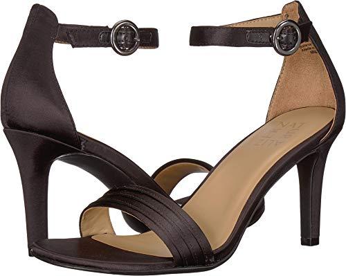 Naturalizer Women's, Kinsley 2 Sandals Black Satin 7.5 - Black Dress Satin Little