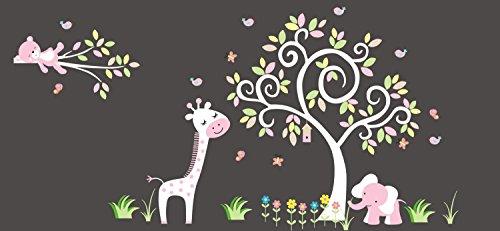 Pink Shades for Girls Nursery Wall Decals - Pink Tones Nursery Decor - Wall Art