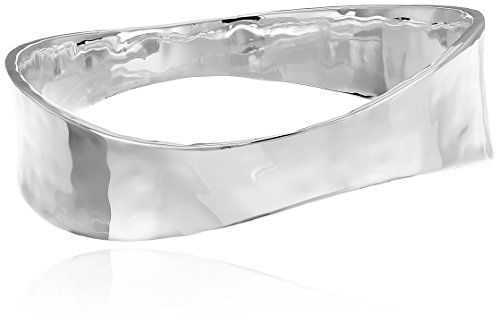 Robert Lee Morris Soho Sculptural Silver-Plated Bangle (Hammered Metal Bracelet)
