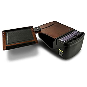 Image of AutoExec AUE10018 Reach Front Seat Car Desk Mahogany with Built-in Power Inverter Bench Seat Consoles