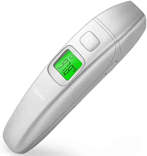 FANRY Digital Forehead and Ear Thermometer for Baby, Kids and Adults - Accurate Temperature- Medical Design - with FDA and CE Approved