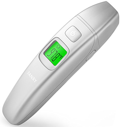 FANRY Medical Digital Ear and Forehead Thermometer for Fever,Sutiable for Babies, Children & Adults With FDA and CE Approved