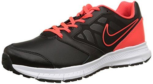 Nike Downshifter 6 Lea - Zapatillas para hombre Multicolor (black/black-brght crmsn-white)