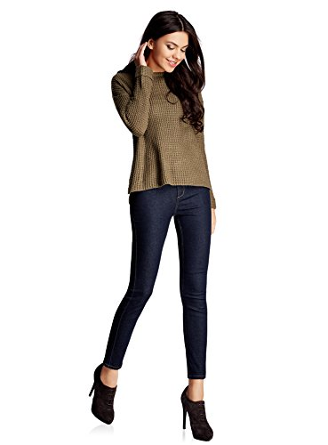 Ultra Jean 7900w oodji Skinny Raccourci Bleu Taille Femme Haute zwdqUdv