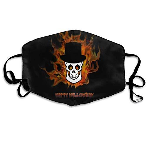 SOADV Mouth Masks Happy Halloween Pattern Mouth Masks Unisex Anti-Dust Flu Washable Reusable Mouth Mask Fashion Design for Girls Women Boys -