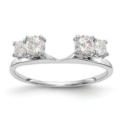 - 14K White Gold Diamond Wrap Ring Size 7 (0.46ct,G-H)