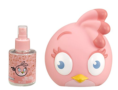Angry Birds Pink Cologne Spray and Coin Bank, 3.4 Ounce