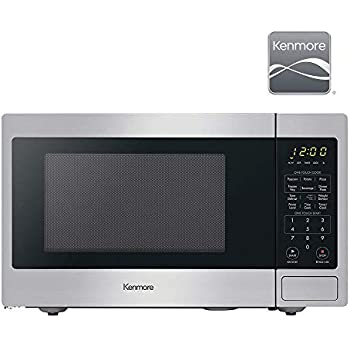 Kenmore Elite 70923 0.9 cu. ft Small Compact 900 Watts Countertop Microwave with 10 Power Settings, 12 Heating Presets, Removable Turntable ADA Compliant, Stainless Steel