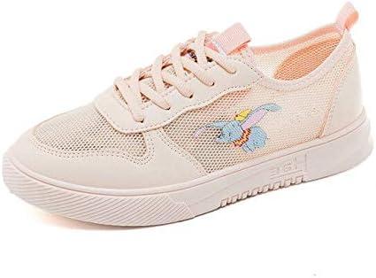 RONGXIE Nuevo Ocio Antideslizante Nueva Mujer Moda Punta Redonda Zapatillas Transpirables con Cordones Zapatos Deportivos Zapatos para Correr Zapatos De Entrenamiento De Amortiguación Al Aire Libre: Amazon.es: Deportes y aire libre