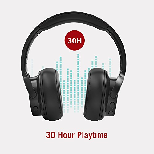 41ukWq6lr3L - TaoTronics Active Noise Cancelling Bluetooth Headphones HiFi Stereo Wireless Over Ear Deep Bass Headset w/cVc Noise Canceling Microphone 30 Hour Playtime Comfortable Earpads for Travel Work TV