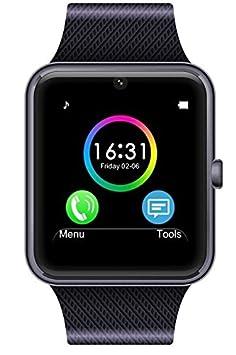 GT08 Montre connectée Bluetooth et Gsm pour Smartphone Android (Noir): Amazon.fr: High-tech