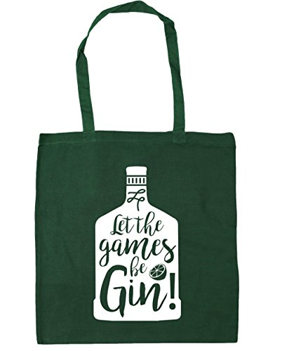 42cm Beach Shopping litres Bottle The Let Design Games HippoWarehouse Bag Tote Be 10 Bottle Green Gym Gin x38cm H7x8vxwf