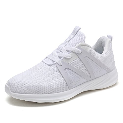DREAM PAIRS Women's C0191_W White Fashion Running Shoes Sneakers Size 7.5 M US