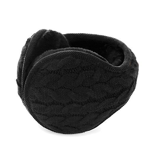 Alotpower Stylish Earmuffs Outdoor Soft EarMuffs Faux Furry Earwarmer(Black)