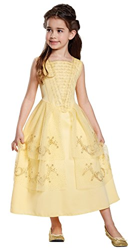 Belle Ball Dresses (Disney Belle Ball Gown Classic Movie Costume, Yellow, Small (4-6X))