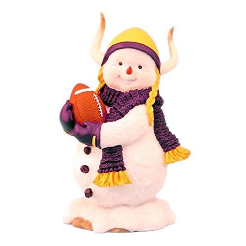 Minnesota Vikes Football 7 Inch冬Statue Holiday Snowman Figure Ridgewood   B074R6RZVY