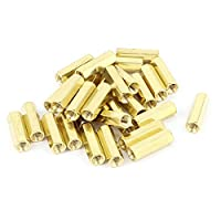 uxcell 30pcs M3 Female Thread Insulated Brass Standoff Hexagonal Spacer 15mm by uxcell
