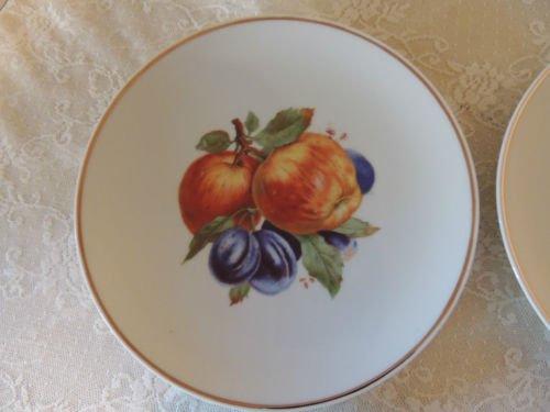 Vintage PMR Bavaria Jaeger & Co Germany Golden Crown Orchard Apple Plum 7 3/4