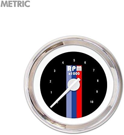 Aurora Instruments GAR265ZMXIABCD Vintage Autobahn Black Tachometer Gauge