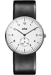 Braun Men's BN0024WHBKG Classic Analog Display Quartz Black Watch