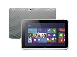 "Acer ICONIA W5 W510 10.1"" Tablet TPU Rubberized Protective Cover Case - Smoke"