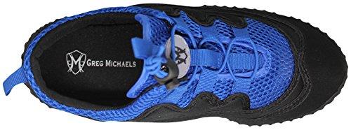 Greg Michaels Männer Schnürsenkel Wasser Schuhe - Aqua Socken für Pool, Strand, See, Yoga, Übung mit Drawstopping Closure - erhältlich in 3 Farben Schwarz / Royal