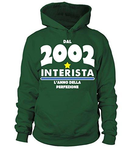 Verde 2002 Donna Regalo Felpa Bottiglia Con Uomo Teezily Cappuccio f0nq6a77w