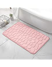 Bath Mats for Bathroom - Bathroom Floor Mat - Cozy Bathroom Rug - Comfortable Floor Bathmat Carpet in Stylish Colors - Machine Washable Memory Foam Bathroom Rugs for Home Décor