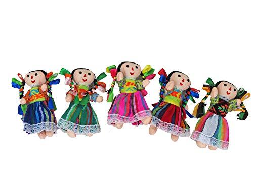 Alkimia Inc Mexican Handmade Painter Rag Doll 7 inches