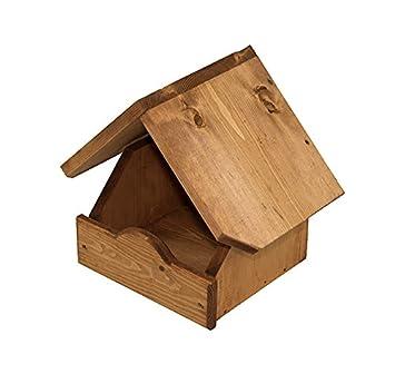Riverside Woodcraft Rustic Wall Mounted Bird Table