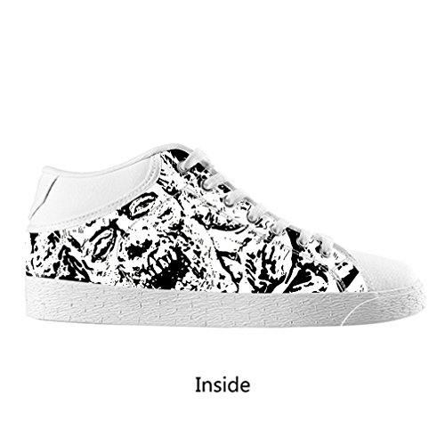 DONGMEN New Custom Walking Dead Lady Female Women's Chukka Canvas Shoes Lace Up Breathable Sneakers (Lord Of The Rings Shoes)