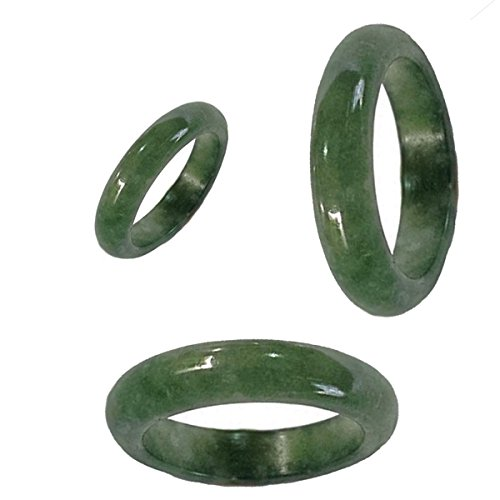 4 Mm Wide Ring - Karatgem Jewelry Mixed Color Jadeite Jade Band Ring 4-5mm Wide US Size 4.5-12 (US Size 10)