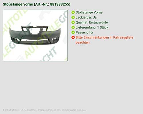 Seat Ibiza 6L Cordoba 06 - 09 Parachoques Delantero lackierb.: Amazon.es: Coche y moto