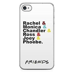 iPhone 4s Transparent Edge Case Friends Team