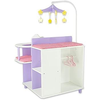 Amazon Com Hape Kid S Babydoll Wooden Changing Table