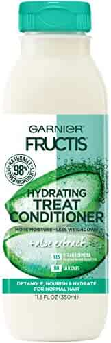 Garnier Fructis Hydrating Treat Conditioner, 98 Percent Naturally Derived Ingredients, Aloe, Hydrate for Normal Hair, 11.8 fl. oz.