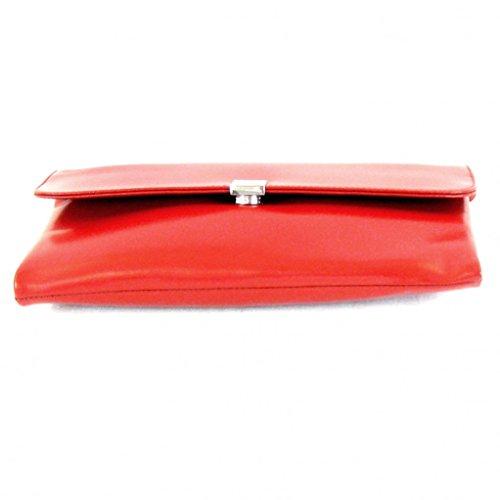 Pavini - Cartera de mano de Piel Lisa para mujer rojo rojo klein