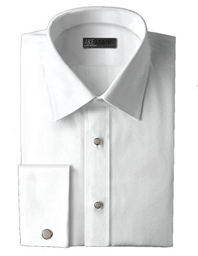 Ike Behar Cotton Pique Point Laydown Shirt - Pique Tuxedo Shirts