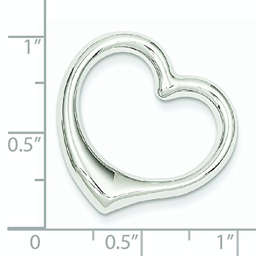 Or blanc 14 carats Cœur-JewelryWeb pendentif Slide
