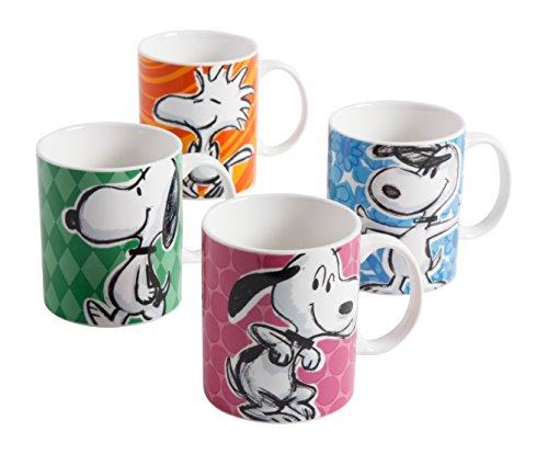 Peanuts 82844.04RM Festive Sketch 15 Ounce Mug, Multicolor