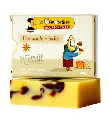 SavonL'amande y bulle au lait d'amande et pain d'épices 100% bio & vegan LA SAVONNERIE BOURBONNAISE 9464653