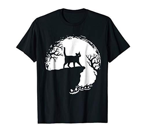 Moon Tree Pumpkin Mountain Incredible Fun Tshirt Scary Cat -