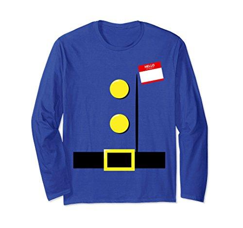 Unisex Dwarf Halloween Group Costume Idea Long Sleeve Name Plaque 2XL Royal Blue (Halloween Costume Ideas For Teachers Kindergarten)