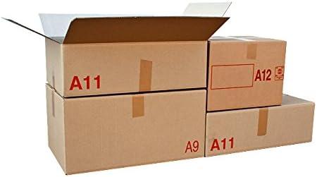 Lot de 10 Carton emballage double cannelure 60x40x30: Amazon.es: Oficina y papelería
