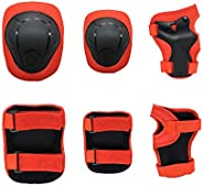 Goaup Kids Children Knee Pads Elbow Pads Wrist Guards 3 in 1 Protective Gear Set for Toddler Skateboarding Inl