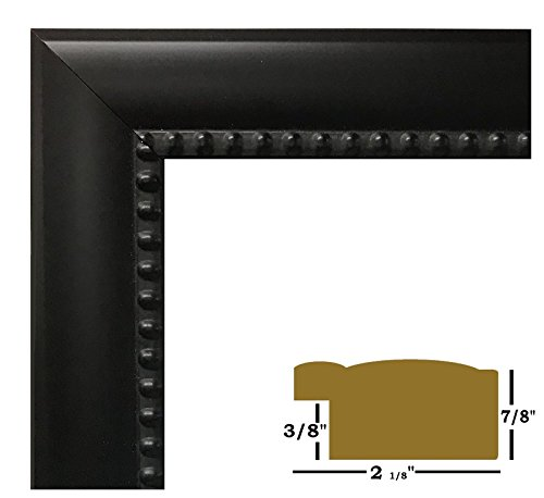 "US ART Frames 16x22 Black Beads 2 1/8"" Solid Wood Picture Poster Frames from US Art"